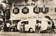 Old caravan postcards & photos from the 1940s and 1950s #caravan #vintage #german