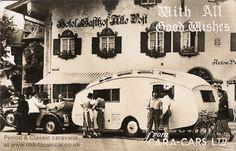 Old caravan postcards & photos from the 1940s and 1950s #caravan #vintage #german