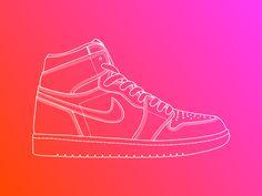 Line Illustration - Air Jordan 1 by Equal Parts Studio