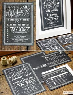 Chalkboard Love: Wedding Invitation Roundup #type #wedding #chalk #invitation