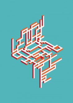 Abstract Geometric Typography on Typography Served #type #geometric