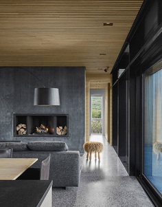 Concrete and Wood Summer House in South Iceland 9