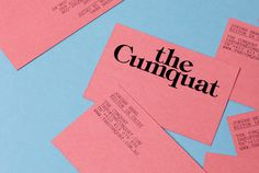 The Cumquat — Studio Hi Ho #card #print #business