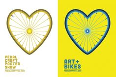 Dribbble - PedalCraft_Promo.jpg by Jon Ashcroft #heart #ashcroft #cycle #jon #wheel #illustration #bike #typography