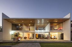 Rectangular-Shaped Contemporary House Exuding Transparence in Brazil #architecture #contemporary