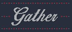 Kaldor | Gather #project #word #gather #design #christmas #illustration #kaldor #sweater #type