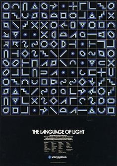 The Language of Light. Yusaku Kamekura #1960s #poster #yusaku kamekura #japanese design