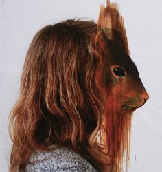 Acrylic Animal Portraits on Photos by Charlotte Caron #caron #painting #charlotte