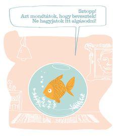 Kategxc3xb3rixc3xa1k / Categories #animal #white #fish #orange #pink #aquarium #handwrite #tale #spechbubble #character