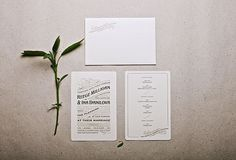 Royal Letterpress Wedding Invitation | Elegante Press