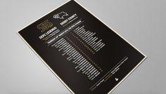 Derby County - Shaun Barker Testimonial - Match-day team sheet #brochure #football #soccer #match #programme #design #testimonial #sport #pr