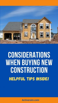 What to Consider Before Buying New Construction Infographic