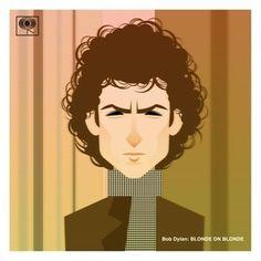 Stanley Chow Illustration Print Shop — Bob Dylan: Blonde on Blonde