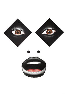 Art - Jean Leblanc (aka Jeanti) #white #checkerboard #black #illustration #mime #and #face #mouth