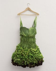LANYBER › Graphic designer ladies via Los Angeles, New York and Berlin #green #dress #vegetables #health #fashion design