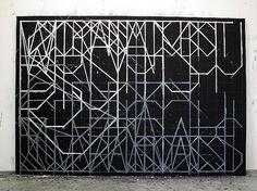 Christian Vetter - SPRACHE #white #black #vetter #painting #and #christian #typography