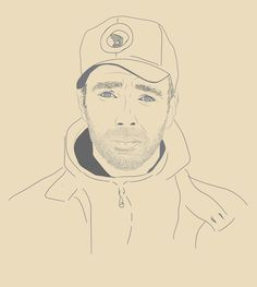 Buck 65 quick vector sketch #vector #beard #illustration #portrait #buck65 #music #hop #hip #sketch