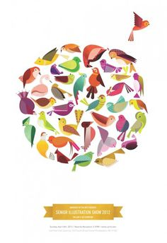 Siobhán Gallagher #birds #illustration #design #poster