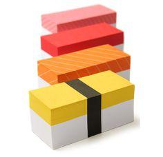 Sushi Memo Pads #sushi #post #it #useful
