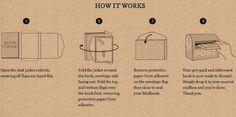 Book Jackets Transform Into Parcel Packaging   DesignTAXI.com