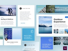 Free Blog Components for Adobe XD - PSDDD.co