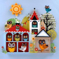 Helen Musselwhite » Owl Town #cut #paper