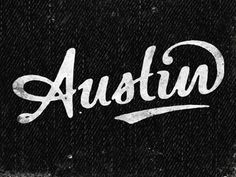Dribbble - Austin by Simon Walker #lettering #logo #simon #austin #type #walker
