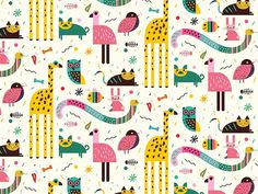 http://www.anatypestype.com #pattern #child #animal #animals #patterns
