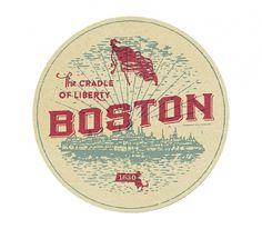 Boston - The Everywhere Project #boston #design #label #illustration #vintage #luggage #coaster