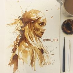 I Use Coffee To Draw Detailed Paintings Of My Favourite Characters | Bored Panda #coffee #painting