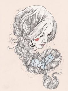 Tattoo illustrations by Liz Clements | Cuded #clements #tattoo #liz #illustrations