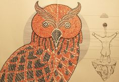 Domenico Romeo #calligraphy #illustrations #owl #owls