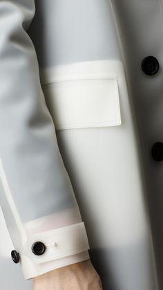 "dailybless: "" Burberry Prorsum Translucent Rubber Jacket """