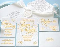 FPO: Alison and Gary Wedding Invitation #print #graphic design #letterpress
