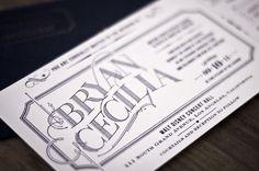 intricate_typography #invitation #design #vintage #type #wedding