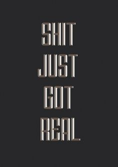 Shit Just Got Real Art Print by getrealpaid | Society6 #neil #print #design #graphic #leonard #poster
