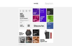 INSPIRE Website #layout #squares #distribute