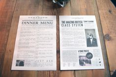 News Room #newsprint #white #broadsheet #print #design #newspaper #black #restaurant #edinburgh #and #columns