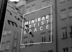 Minibar Artist Space < New : Martin Martonen #logo #identity
