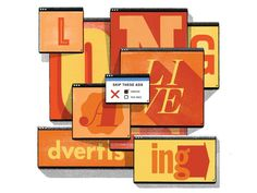Wired Magazine Typography illustration by Mike McQuade