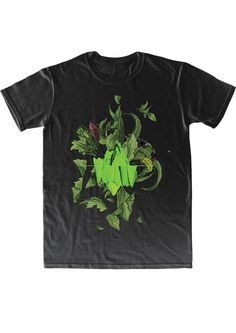 T-shirt Green Island. KFKS #tshirt #green #design #3d #plants #tropical #wear