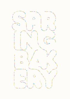 Andreas Neophytou | Spring Bakery #illustration #typography #letters #dots #polkadot