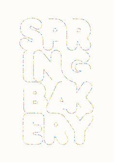 Andreas Neophytou | Spring Bakery #illustration #typography #letters #dots #polkadot