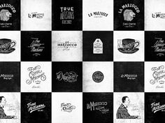 La Marzocco - Jon Contino, Alphastructaesthetitologist #lettering #logos #jon #contino #vintage #typography