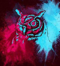 Brent Waison: Graphic Designer & Illustrator | Design #angry #owl