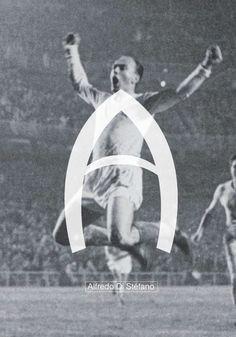 Typography & Fútbol #A // Alfredo Di Stéfano on Behance