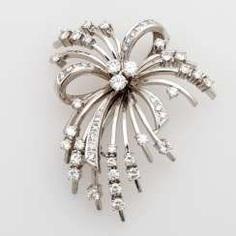 Brilliant brooch / pendant with diamonds