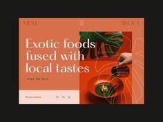 Exotic Restaurant Web Design