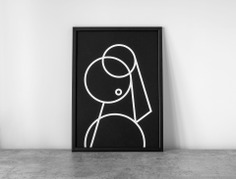 Master Pieces Pearl Poster The Master Pieces series is an exploration in deconstructing classic paintings to reveal their composition. The prints use simple lines and geometric shapes as component pieces to create a minimal, structure-only design. Removing any stylistic expression allows you to focus on the beauty of the composition alone. All prints are signed and unframed. Size – A2 (420 x 594) Print – Hand Screen-printed Stock – 270gsm G.F Smith Colourplan Ebony
