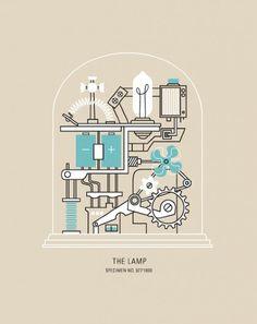 The Lamp - bradwoodarddesign #poster #illustration #art